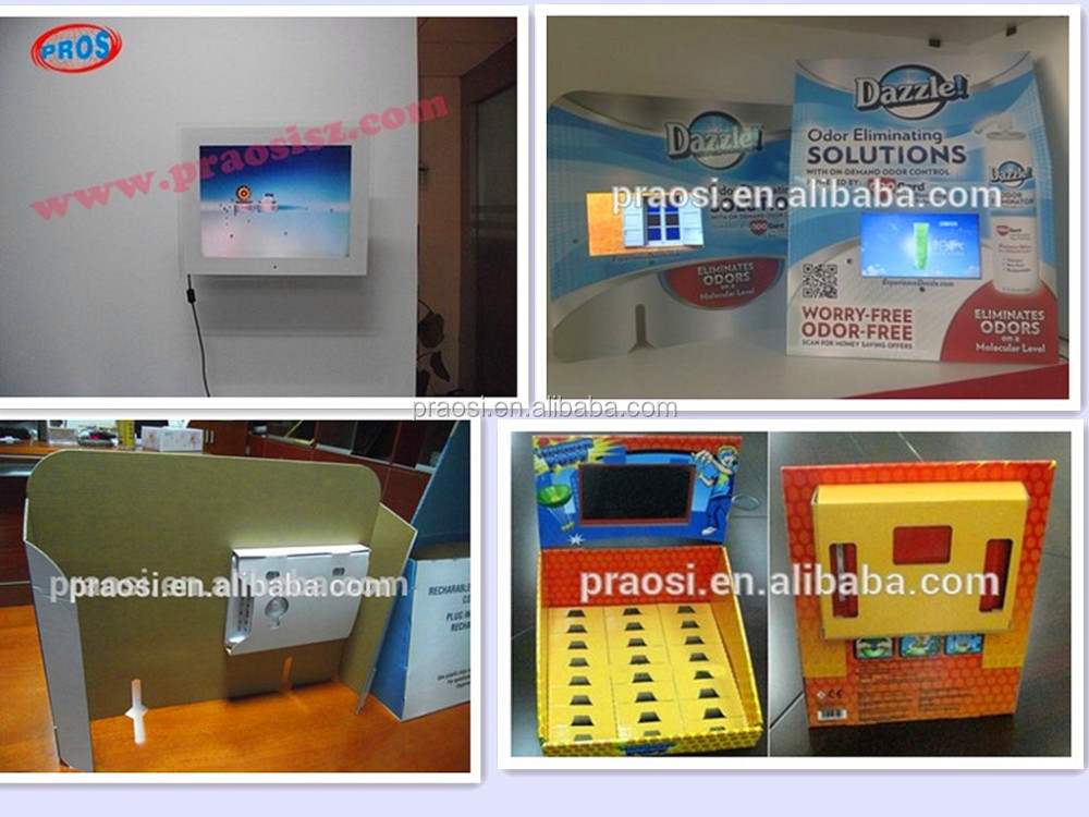 2017 Shenzhen factory new 7 inch lcd digital advertising display screen digital photo frame