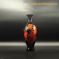 2016 new modern pottery vase with narrow-mouth
