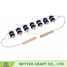 Wooden Back Beads Massager with 2 Handles