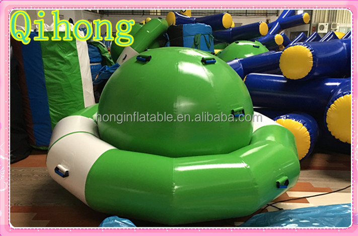 Giant rigid inflatable rocking saturn, saturn inflatable boats for water games
