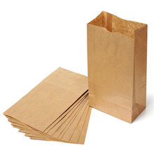 Eco brown 4lb grocery paper food bags for lunch