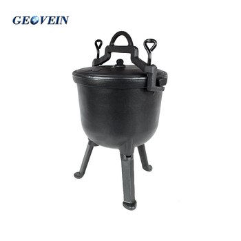 Wholesale vegetable oil 3 legs casting iron ducth oven pots