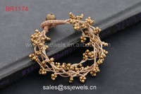 Fashion Cute Cheap Girl's Jewelry Brass Beads Brass Bell Bracelets High Quality Copper Items
