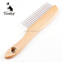 Yangzhou yingte high quality wooden handle pet dog grooming massage comb