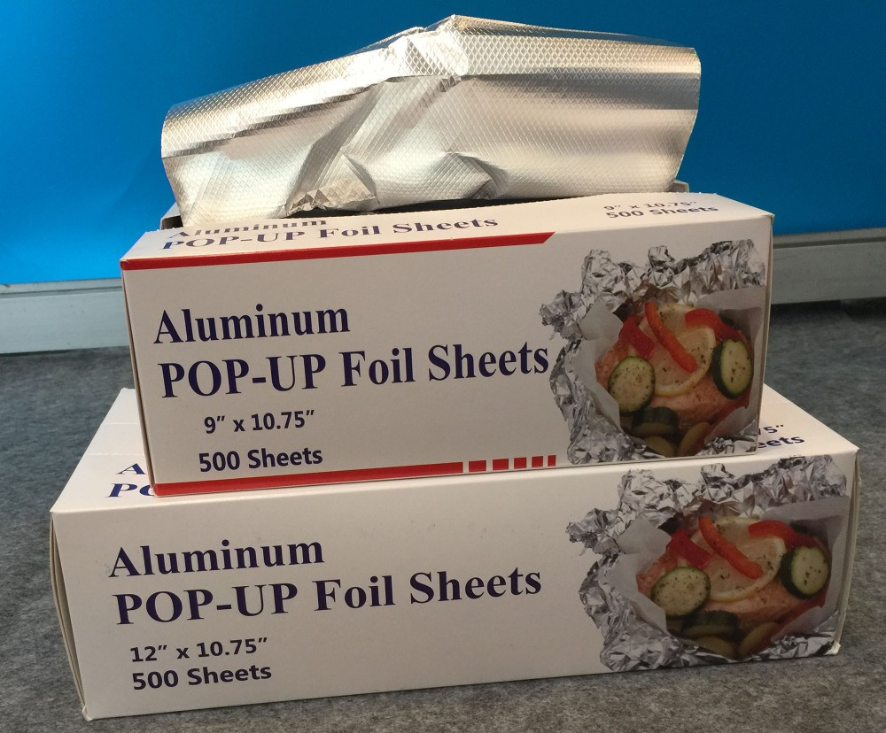 Best Price Aluminum Foil Roll 500 Sheets POP-UP Aluminum Foil Paper