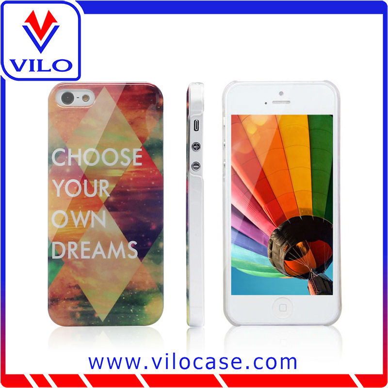 Customized design PC case for mobile phone case for iphone 5 with free sample available