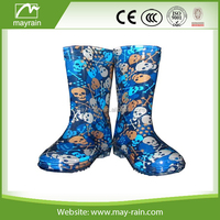 monogrammed fancy rainboots wholesale cheap pvc kid rain boots