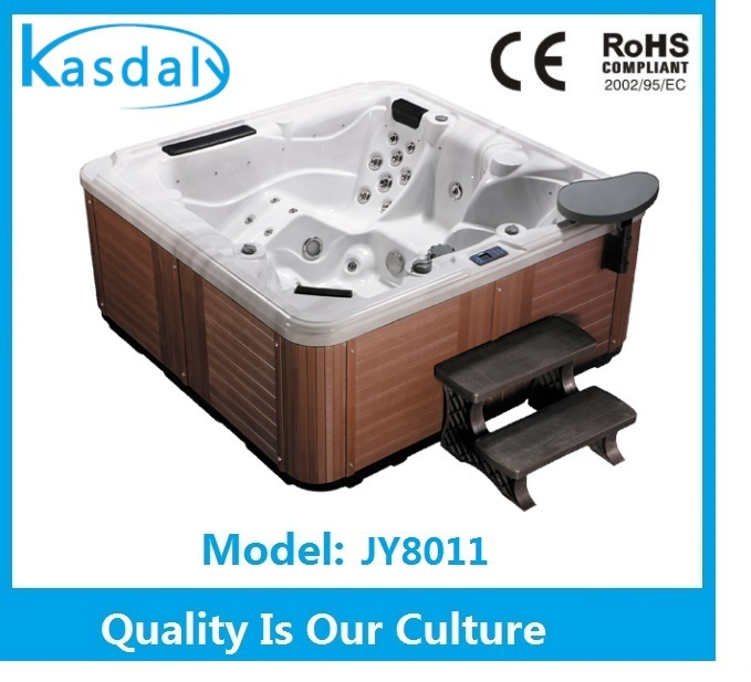 2016 popular europe spa luxury outdoor hot tub with pop-up speakers hot tub spa