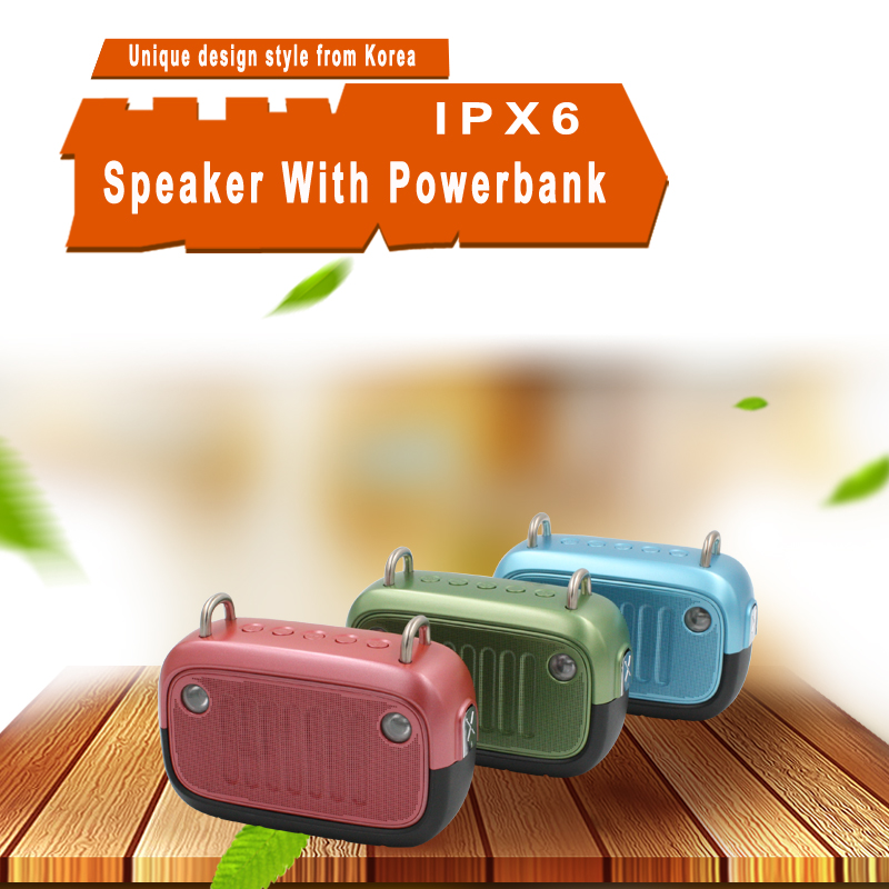 2017 10W Custom Unique Creative Hi Fi Power Bank Robot Powered Outdoor Subwoofer Active Bluetooth Speaker With Led Lamp Light