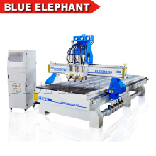 ELE 1340 3 Spindles Cnc Router Wood Industry Multi Heads Cnc Engraver Machine