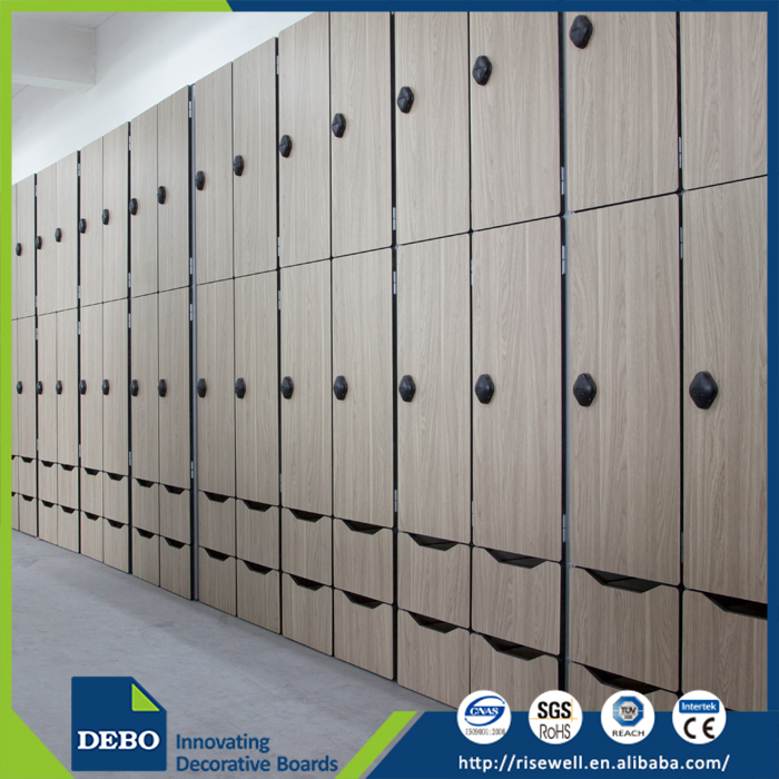 2017 Modern Design compact laminate locker/ lockers for gym non metallic