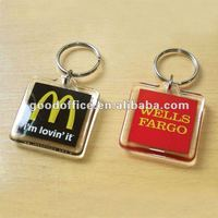 Guangzhou factory custom wholesale promotion Blank acrylic key chain