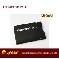 China Rechargeable Li-ion mobile battery KC470 3.7V 1200mA cell phone batteries For Karbonn