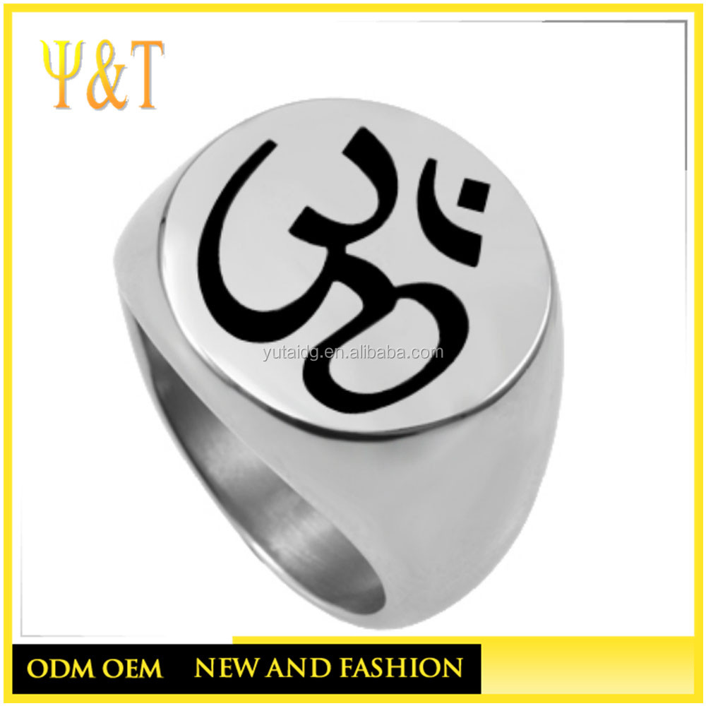 Cheap 316 stainless steel silver jewelry womens ring blank engraved rings