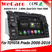 Wecaro Android 4.4.4 car dvd player double din for toyota prado car gps navigation GPS 2006 - 2011