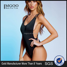New Arrival Sexy Girls Swimming Suits Black Double Cross Strap Monokini One Pieces Swimmming Suits