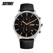 skmei 9103 luxury stainless leather wrist titan watch men