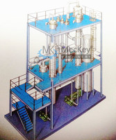 Multiple effect tubular evaporator