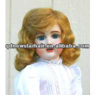 Wholesale cheap mohair/human hair/syntheti hair doll wigs
