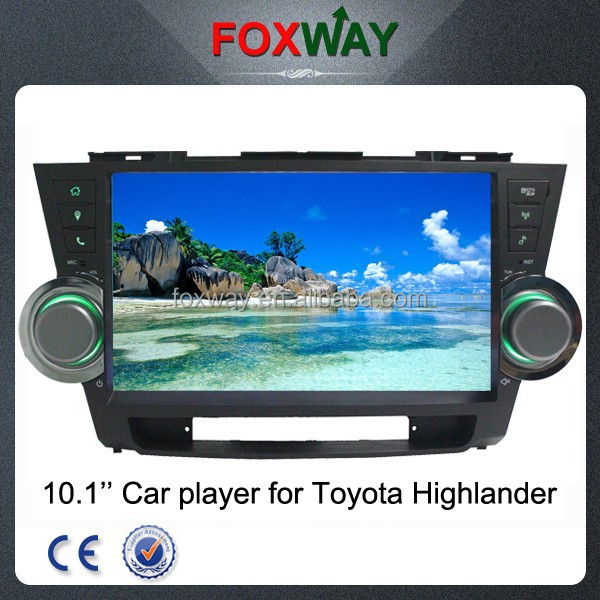 Touch screen 2 din 10.1 inch car stereo for toyota highlander with car gps navigation car multimedia player radio bluetooth WIFI