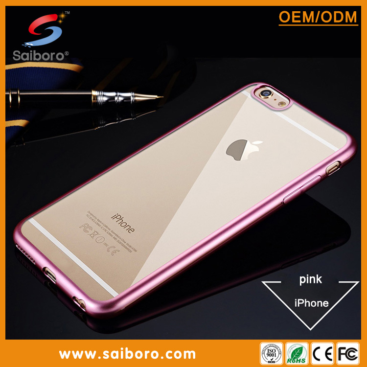 Newest electroplate bumper ultra slim TPU case for huawei P6