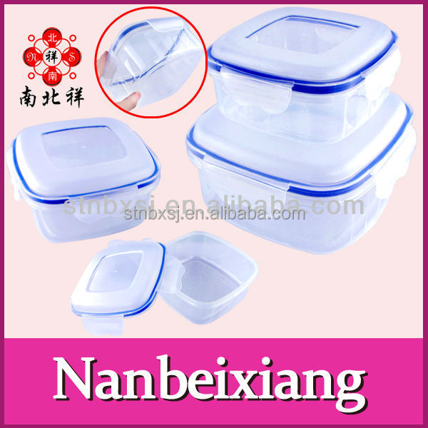 Food Grade Plastic Microwave Crisper with locking lid
