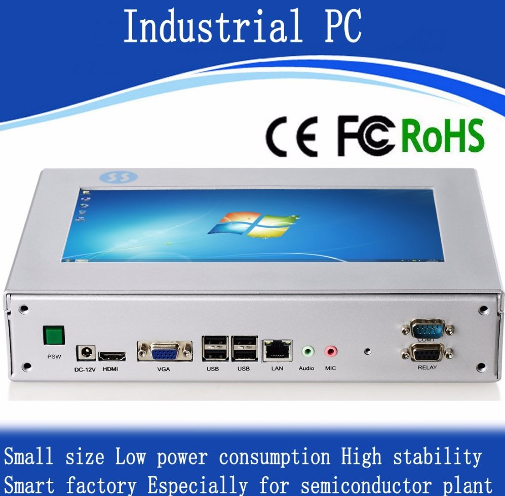 Low consumption touchscreen mini computer pc for Windows XP/7/8