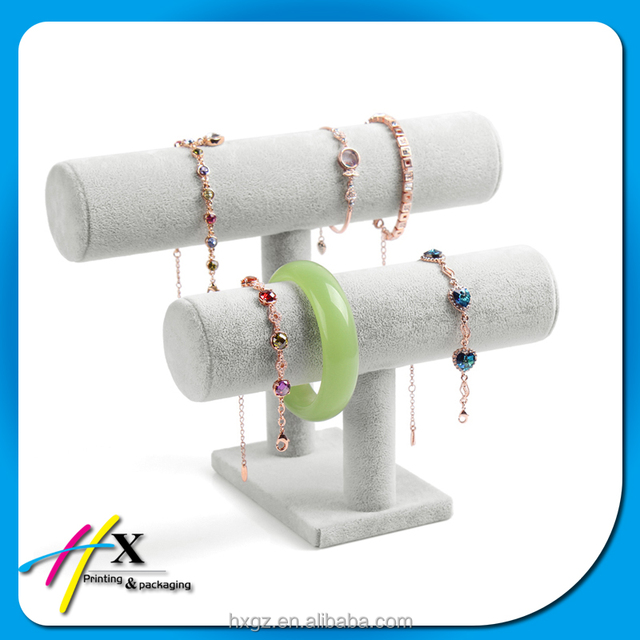customized china supplier high end T bar bust stand storage jewelry bracelet display on sale