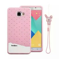 fabitoo Ice cream Rabbit Lanyard Silicone Case For Samsung galaxy A9