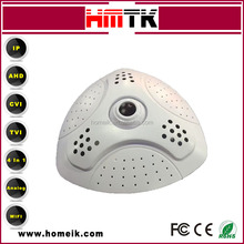 New design 360 degree rotation fisheye H.264 p2p cctv ip cameras