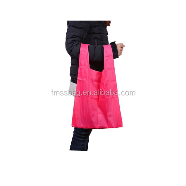 Promotional Reusable Coloful Nylon Foldable Shopping Bag /Cheap Fashion Lady Handbag