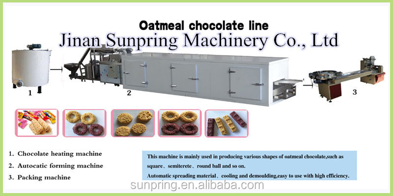 Pure oatmeal chocolate bar making machine