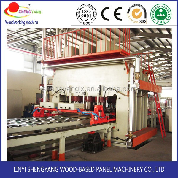 professional melamine mdf laminating machines short cycle veneer laminating hot press(900T-3200)