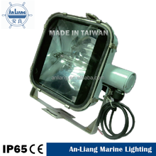 Metal Halide searchlight stainless steel 1000w outdoor marine flood light