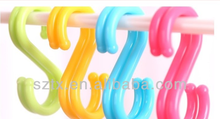 COLORED plastic coated hooks for garments