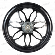 MOS Forged Rim Wheel MF-07 (Pair) (Black) for Honda Grom125 / MSX 125 / MSX SF 125