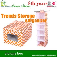 2015 wholesale organe colored collapsible storage box for home usage