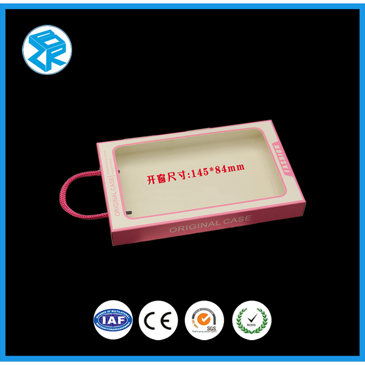 High quality blister packing with paper card packaging pvc box for cell phone case