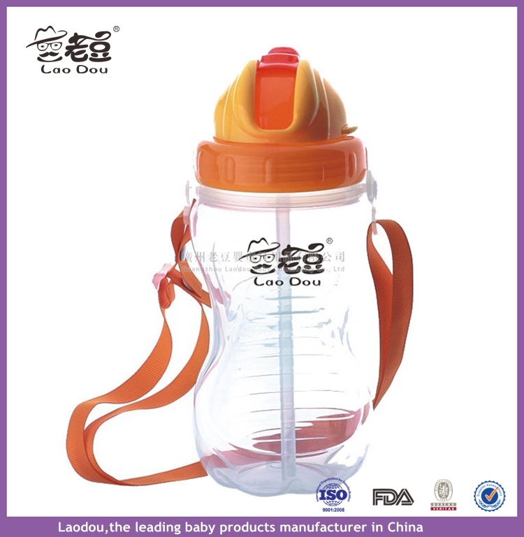 Free of BPA/ phthalates/ PVC/ non-toxic lead-free Infant Baby Water Bottles , Cute Baby Feeding Cup With Straw Drinking Cups