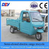 Semi-Closed Electric Cargo Tricycle With Cabin