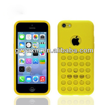 For iphon 5c mobile phone case,colorful Candy blue polka hole dot case for iphone 5c