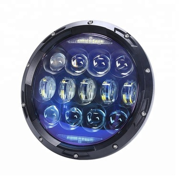 "Newest super bright Osram 130W 7"" round led headlight 12V 24V 7 inch led headlight for jeep wrangler"