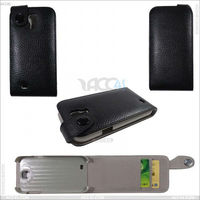 Flip credit card wallet leather case for samsung galaxy S4/i9500 P-SAMI9500CASE001