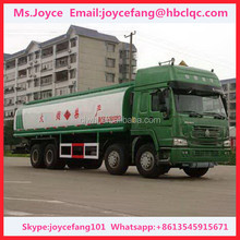 Howo 4 Axles 30cbm Chemical Liquid Tank Truck For Sale