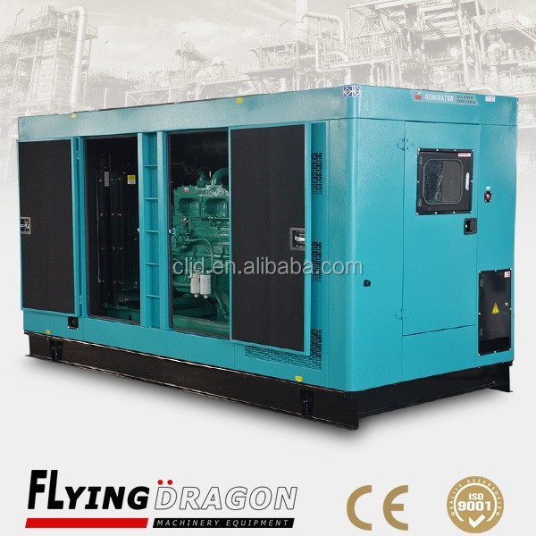 less fuel consumption 50HZ silent generator 250kva electricity closed type generation 200kw