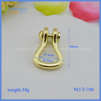 High quanlity metal fittings for bags zinc alloy handles for purse make in China