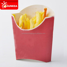 12oz capacity folding paper French fries packaging boxes