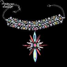 Dvacaman Brand 2017 Colorful Crystal Chokers For Women Wedding Party Statement Necklace Jewelry Femme Bijoux Christmas Gifts H67