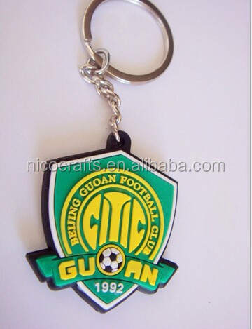 PVC Keychains single sided, Eco-friendly Rubber PVC Key ring, Soft PVC Key Chains for promotion