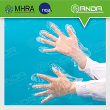 AD007 cheap white plastic disposable hand gloves for big hands